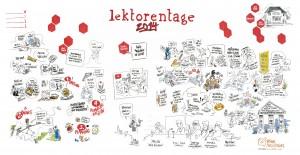 Linkes Drittel: Vortrag von Irene Rumler, Rest: Podiumsdiskussion (Foto: Malte von Tiesenhausen)