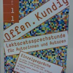 Der VFLL auf der Frankfurter Buchmesse: Lektoratssprechstunde