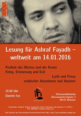 Lesung Lektorenverband Fayadh in Münster