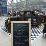 Immerhin konsequente Falschschreibung an allen Kaffee-Ständen