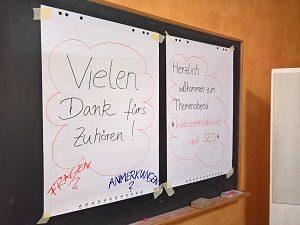 Lektorenverband VFLL Themenabend Webseitenlektorat und SEO Tafel