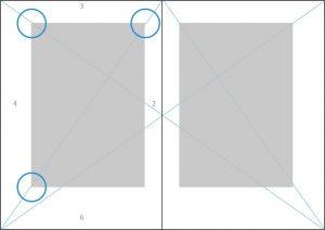 Strahlenkonstruktion Typografie Lektorat