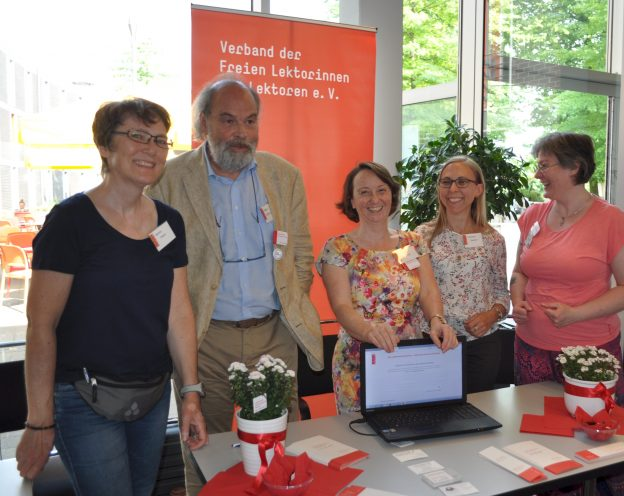 Lektorenverband VFLL auf dem Self-Publishing-Day 2018-Standdienst
