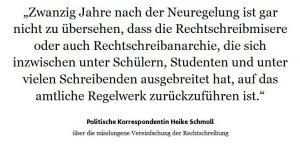 Rechtschreibreform neue Rechtschreibung FAZ