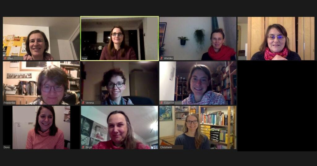 Teilnehmerinnen der Onlineveranstaltung aus der Regionalgruppe Köln/Bonn